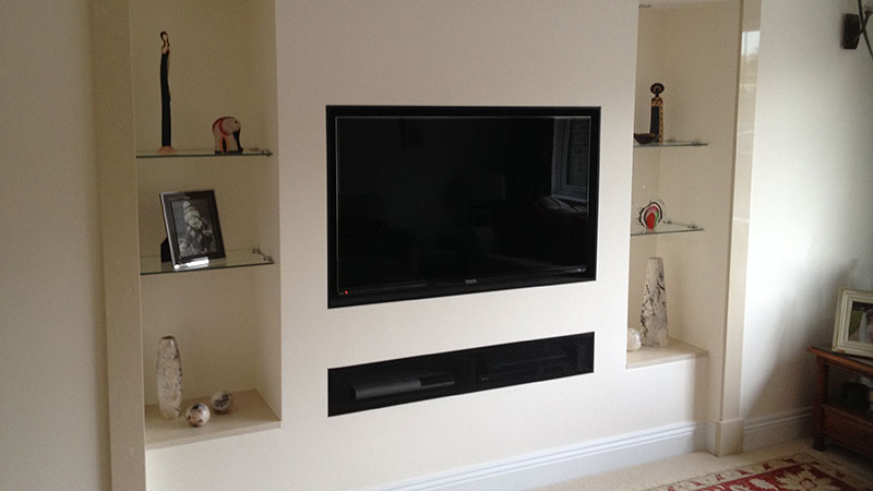 Inset TV in Living Room